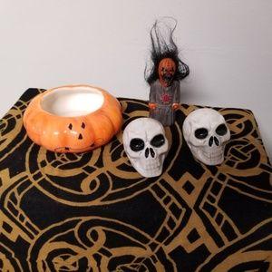 Skull Salt & Pepper, Crazy Guy, & Nervous Pumpkin